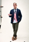 Club Monaco Spring 2011 Mens Julius Blazer, Eric Cashmere Cardigan, Matty Oxford Shirt, Slim Chino, James Striped Tie, Mark McNairy Bucks for Club Monaco