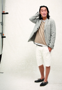 Club Monaco Spring 2011 Mens Monroe Blazer, Webster V Neck Sweater, Williams Graphic Tee, Andrew Short, Austin Army Belt