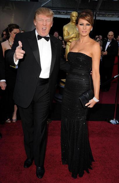 Donald Trump and Melania Trump Oscars 2011