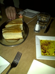 Lolo Restaurant - Bread and Spicy olive oil