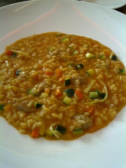 The Chefs' House - Paniscia alla novarese, riso della tradizione con verdue e salamino (Matthew Gimblett menu)