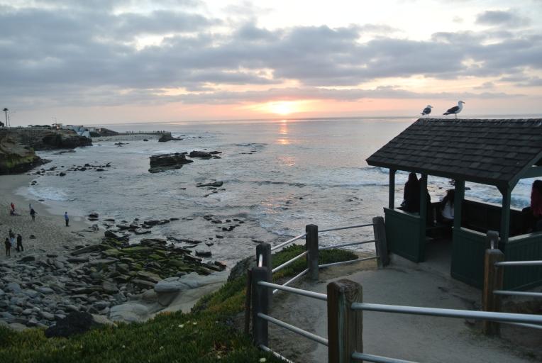 Sunset La Jolla California Beach