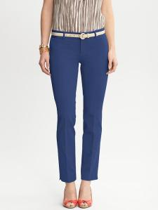 Banana Republic Sloan slim ankle pants in mythic blue