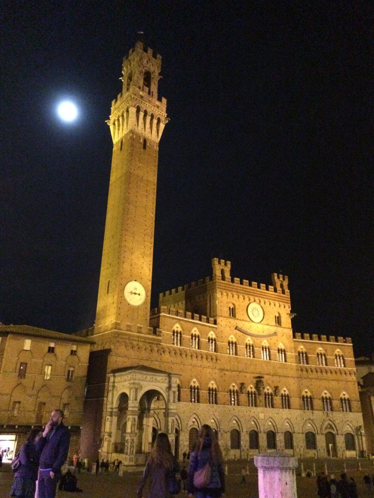 Siena Tower at night