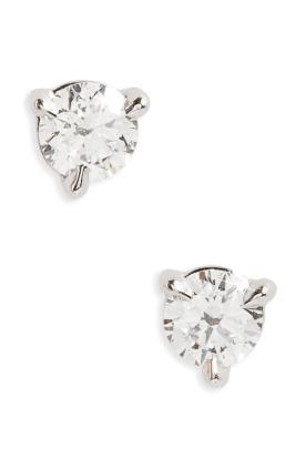 3. 0.33ct Diamond and Platinum Stuff Earrings by Kwiat