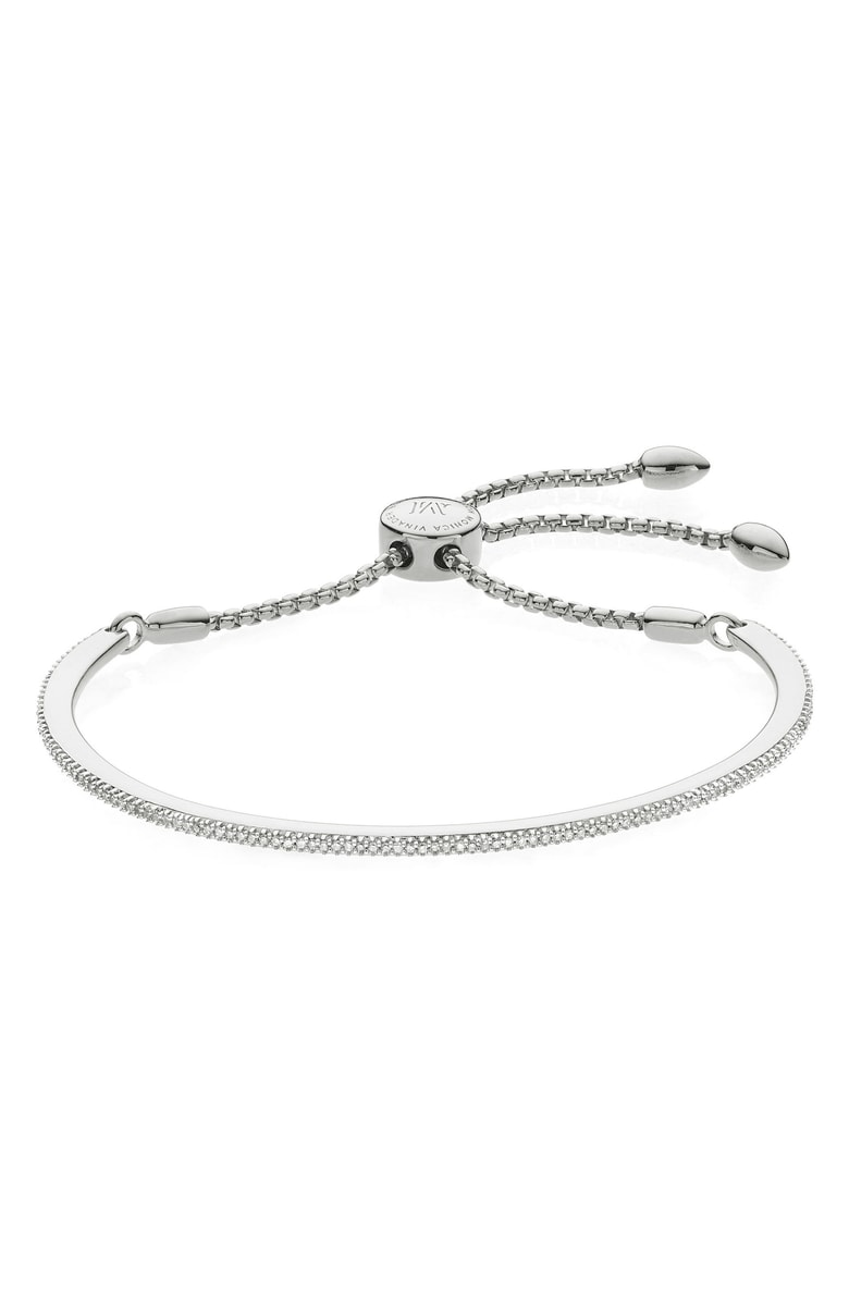 1. Fiji Skinny Vermeil Diamond Bar Bracelet by Monica Vinader
