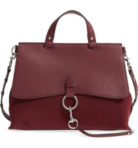 2.Medium Keith Suede & Leather Satchel by Rebecca Minkoff