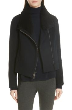 5. Double Face Genuine Shearling Collar Jacket by VINCE