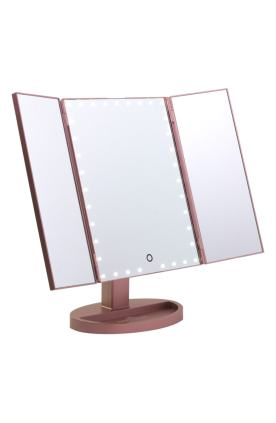 3. Touch Trifold XL Dimmable LED Makeup Mirror by IMPRESSIONS VANITY CO.