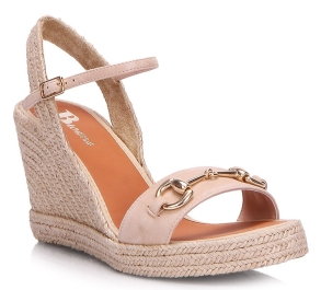 Browns Shoes Beige Suede Sandal