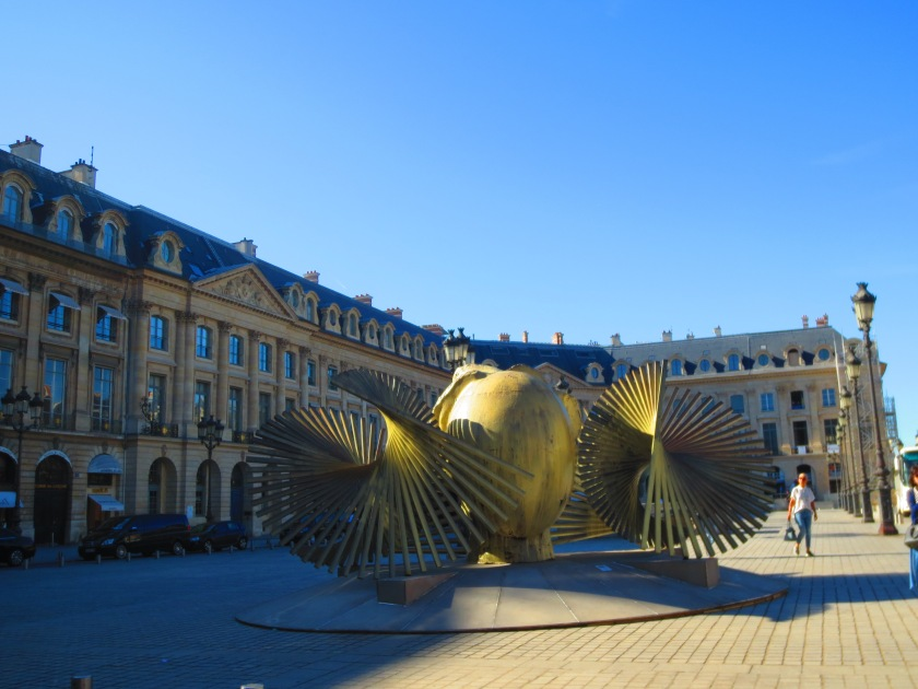 Paris Place Vendome exhibit