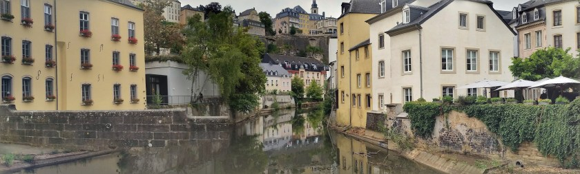Luxembourg by the river pano