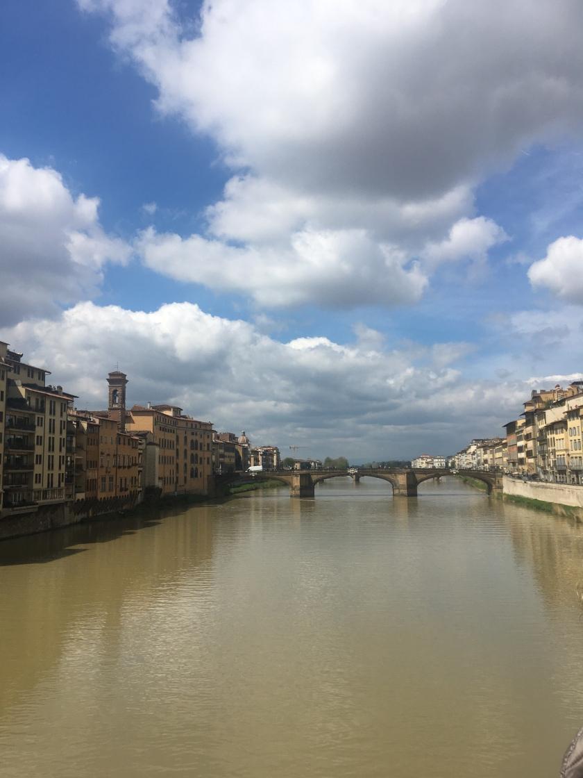 Arno river view from Ponte Vecchio