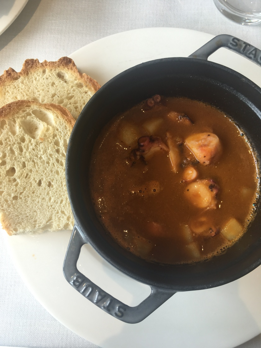 Picteau Cocktail Bar - Seafood stew with Squid
