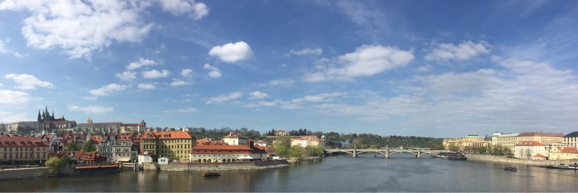 Panoramic Prague from Charles Bridge